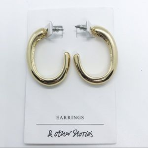 & Other Stories Gold Thick Hoop Earrings